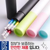 인젝션 육각지우개연필 5p 바닐라원통케이스