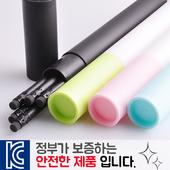 인젝션 흑목원형지우개연필 5p 바닐라원통케이스