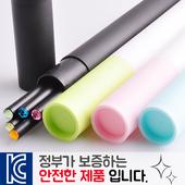 인젝션 보석연필 5p 바닐라원통케이스