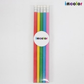 incolor 투명케이스 5본입 비비드육각(B) 연필세트