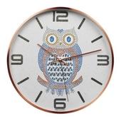 로즈골드부엉이벽시계