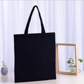 무지 블랙 캔버스백 에코백 32*35cm