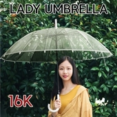 레이디 투명 장우산 자동