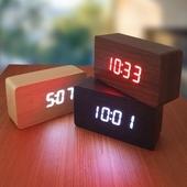 디지털LED 우드인테리어시계