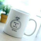 이니셜 머그 (인쇄컵) 일자머그