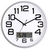 국민캘린더온도무소음벽시계JS6018