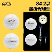 볼빅 S4 2구 볼마커세트 (4PC) 화이트 칼러 유광
