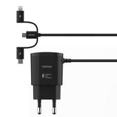 라울리 3in1 케이블 일체형 고속충전기
