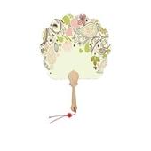커스터마이징 한지 부채 연엽선 (소량주문 가능)