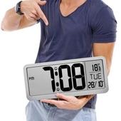 LCD 초대형 와이드스크린 탁상&벽걸이 시계