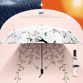 꽃넝쿨 3단 양우산 / 자외선차단 우산/암막/양산겸용/컬러다양/리버설