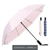 송월우산 카운테스마라 2단우산 더블스트라이프 우산 s