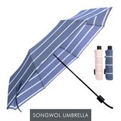 송월 카운테스마라 3단우산 더블스트라이프 우산 s