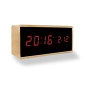 NV42-TC10 우드 디지털 멀티 탁상 시계