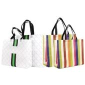 코팅 부직포 쇼핑백 소 / 대 패턴/색동