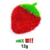 딸기 아크릴 도톰 수세미 대 12*15 (12g)