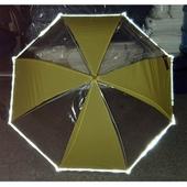 키르히탁60반사띠 발광우산 투명우산 노랑우산