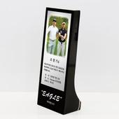 이글 싱글 홀인원 사진 블랙 크리스탈 상패 골프기념패 golf 330