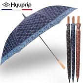 협립 70 클래식실버 원목손 자동 골프우산