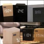 브리츠 원목ST LED 알람시계 BZ-EW01