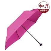 송월우산 미니하운드체크 3단우산