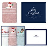 송월 크리스마스 점프 3매세트+쇼핑백 s