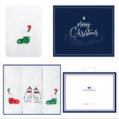송월 스노우 크리스마스 3매세트+쇼핑백 s