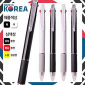 국산 흑백 라이크니들3색볼펜 (볼펜+형광심)