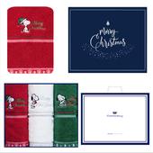 송월 크리스마스 스누피 아폴로 3매세트+쇼핑백 s