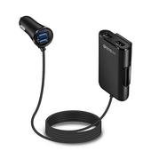 NEXONE 차량용 연장형 4포트 USB 고속충전기 NX-380 블랙