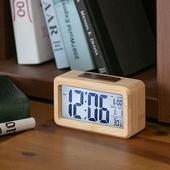 리얼우드 LCD 탁상시계