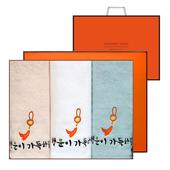 송월 옥행운자수 3매세트+쇼핑백 s