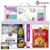 백설 해바라기유 밀가루500 부침가루_위생장갑(4종)