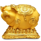 고급 인테리어소품 황금돼지저금통 5kg무광