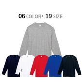 순면 17수 베이직 라운드 긴팔 티셔츠