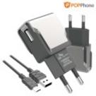 팝폰 스마트 고속 USB 가정용충전기 CS28