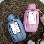 (유리병) 소금 장미실크 보자기포장 천일염 320ml