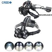 CREE 5구 5200루멘 충전식 광폭 헤드랜턴 L2