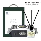 포시즌 항균행주물티슈+디퓨저50ml플레인 선물