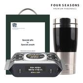 포시즌 항균 행주물티슈+럭셔리텀블러 선물세트
