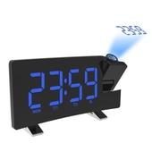 라디오 빔프로젝션 커브드 디지털 LED 시계 BR8831 블랙