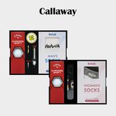 캘러웨이 크롬소프트 3구 볼마커 / 기능성티 볼빅 양말세트