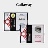 캘러웨이 헥스 디아블로 3구 볼마커 / 기능성티 볼빅 양말세트