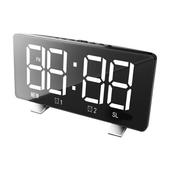 라디오 겸용 디지털 LED 시계 BR8830-1 블랙