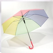 투톤 레인보우 비닐우산