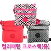 컬러 패턴 크로스백 가방 (중) [BG119]
