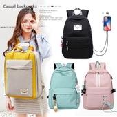 캐주얼 백팩 책가방 4종 / 패션 일상 학생 백팩 컬러다양 여행  패션가방 가방 로고가능