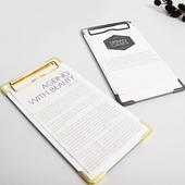 클립보드 메뉴판 홀더 골드&블랙 (빌지-소)
