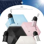 5단 암막 양우산 - 미니포켓 /미니/컬러다양/자외선차단/양산겸용/리버설