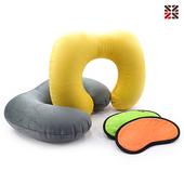 에어벨벳목쿠션+수면안대세트